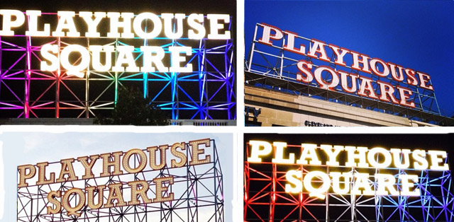 Playhouse Square retro sign